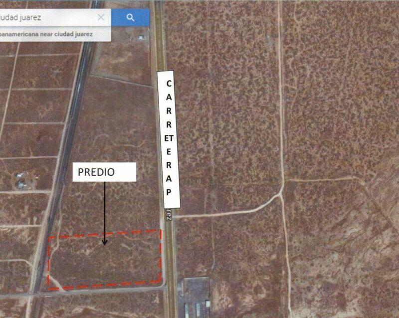 Terreno en Venta Carretera Panamericana Km 27 Ciudad Juarez Chih