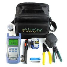 9in 1 Fiber Optic Ftth Tool Kit Skl 8a Fiber Cleaver Optical Power Meter 7010