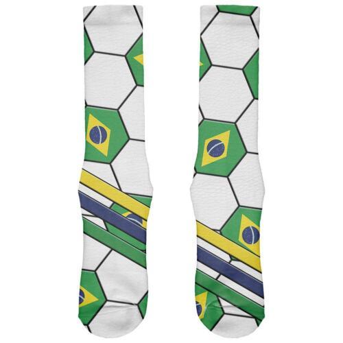 World Cup Brazil Soccer Ball All Over Soft Socks