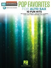 Classic Pop Songs Alto Sax Instrumental Play-Along Book and Audio NEW 000244243