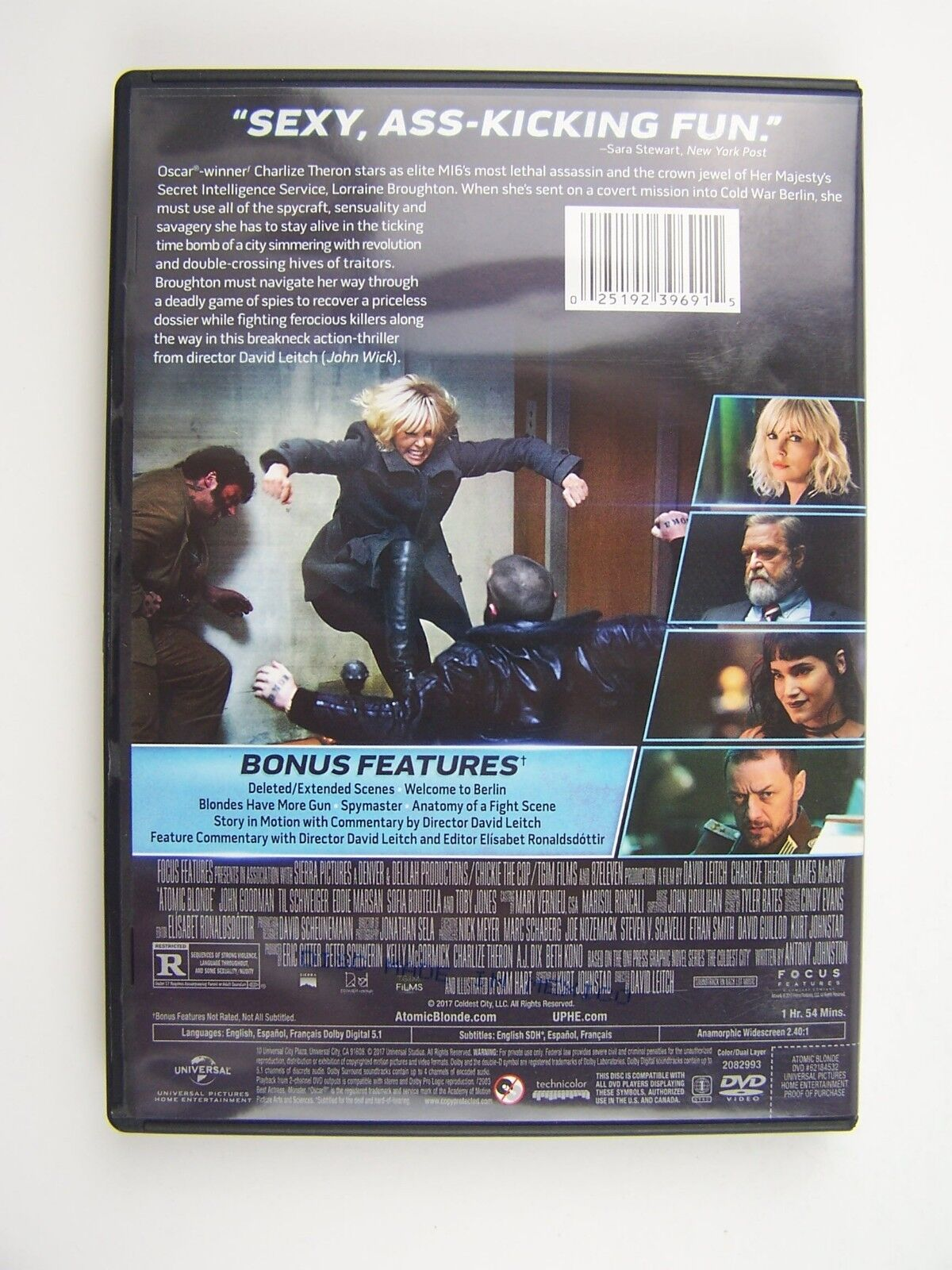 Atomic Blonde DVD Charlize Theron, James McAvoy, John G