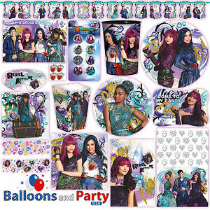 Image Is Loading Disney Princess Descendants 2 Birthday Party Tableware Decorations
