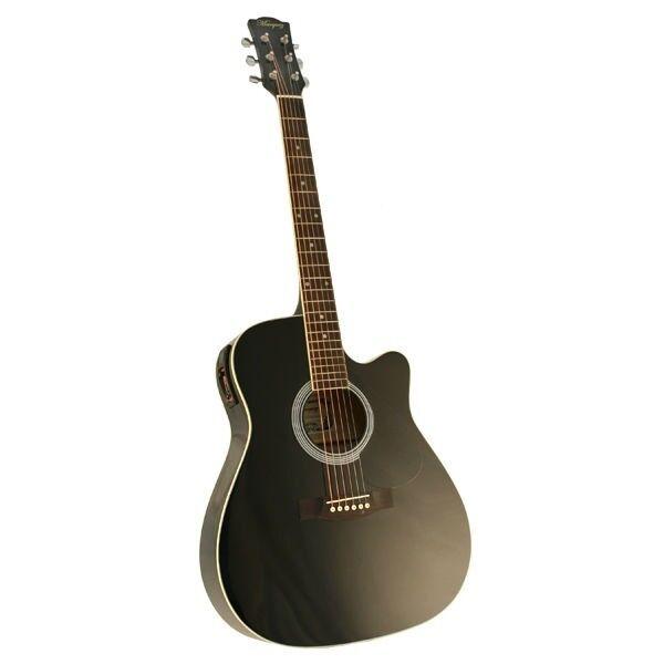 Marquez MD150-EC Steel String Electric Acoustic Guitar - BLACK