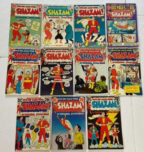SHAZAM #1 2 3 4 5 6 7 9 10 11 17 DC Bronze Age Lot Run Captain Marvel F/VF to VF