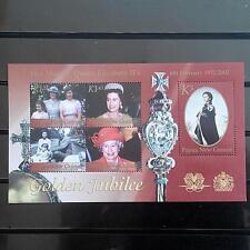 Papua New Guinea 2002 Royalty Golden Jubilee Queen Miniature sheet mnh