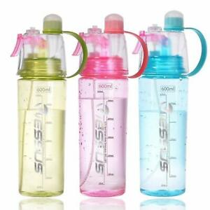 Protable Water Bottle With Straw Drinks Spray Cup Climbing Hiking Cycling Sports