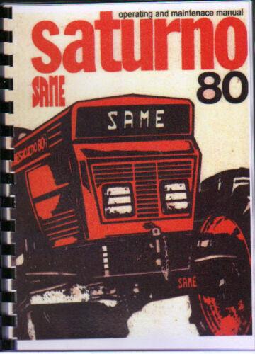 "SAME /""Saturno 80/"" Tractor Operating and Maintenace Manual Book"