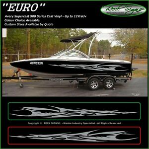 BOAT GRAPHICS DECAL STICKER KIT EURO MARINE CAST VINYL EBay - Decals for boats australiaboat names boat graphics boat stripes boat registrations