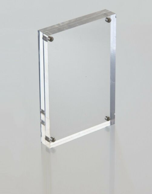 Acrylic Magnetic Photo Block Frame Standing Size A6 (148mm X 105mm ...