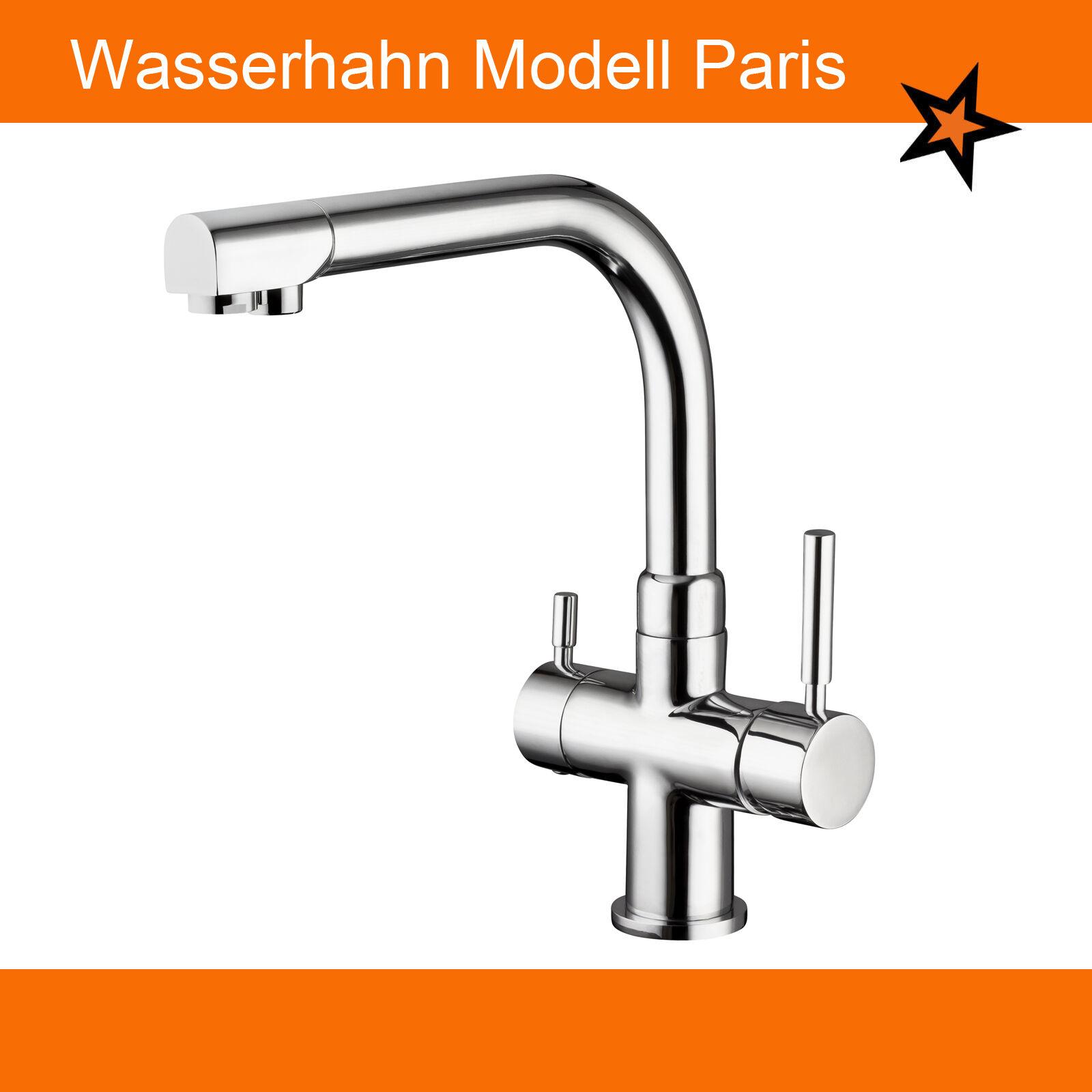 3 Wege Wasserarmatur Modell Paris. Wasserhahn auch für Osmoseanlagen geeignet. | Merkwürdige Form  | Qualität zuerst  | Wirtschaft  | Ausgewählte Materialien