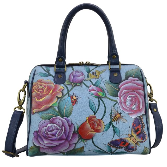 72bc73129d1 Anuschka Women s Genuine Leather 625 Classic Satchel Handbag Purse Roses  D Amour