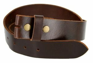 Leather Belt Strap with Vintage Distressed Texture 1.5 Wide with Snaps
