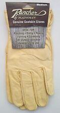 One (1) Pair RANCHER by Plainsman Cabretta Goatskin Leather Gloves MEDIUM New