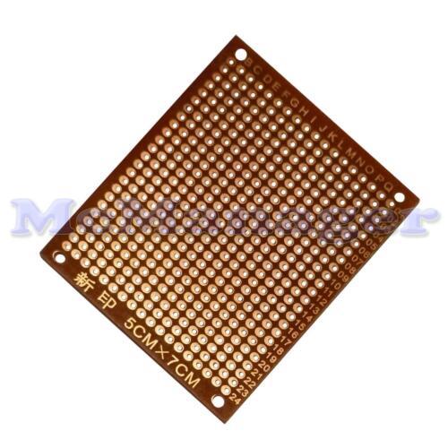 Pre Drilled Bakelite 1.2mm Single Side Copper Prototype PCB Matrix Board 50x70