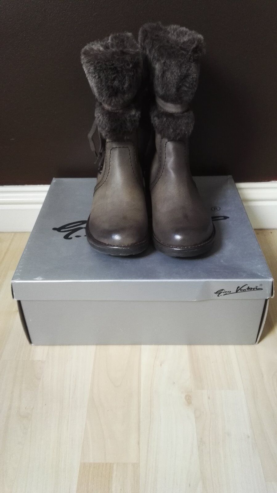 Ladies BNWB Gino Ventori Brown Boots size 3 code 26416272769