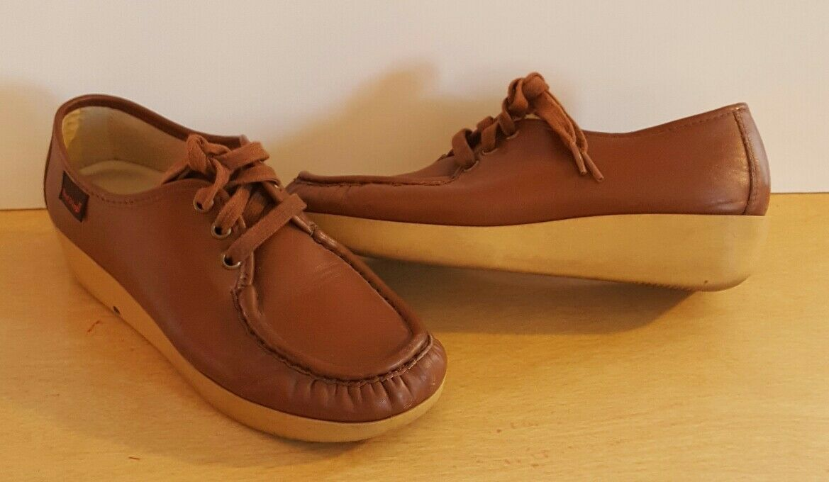 Lady Red Wings 7.5AA Brown Nurses shoes Comfort Casual Made in USA Leather