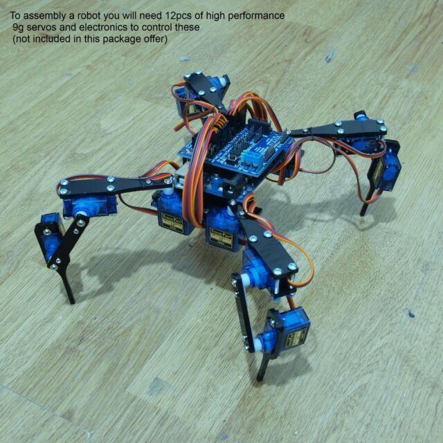"""10pcs Four Feet Robot 4-Legged Hexapod3 Mini """"Spider"""" Arduino DIY Robot KIT"""