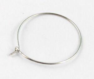 50 Pcs Silver plate earring hoop 50mm #19971
