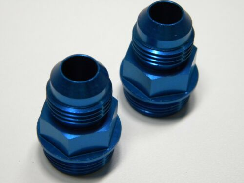 Holley QFT CCS 7//8-20 # 8 A//N Fuel Inlet Fitting Blue 13//16 Hex QFT 19-28 Pair 2
