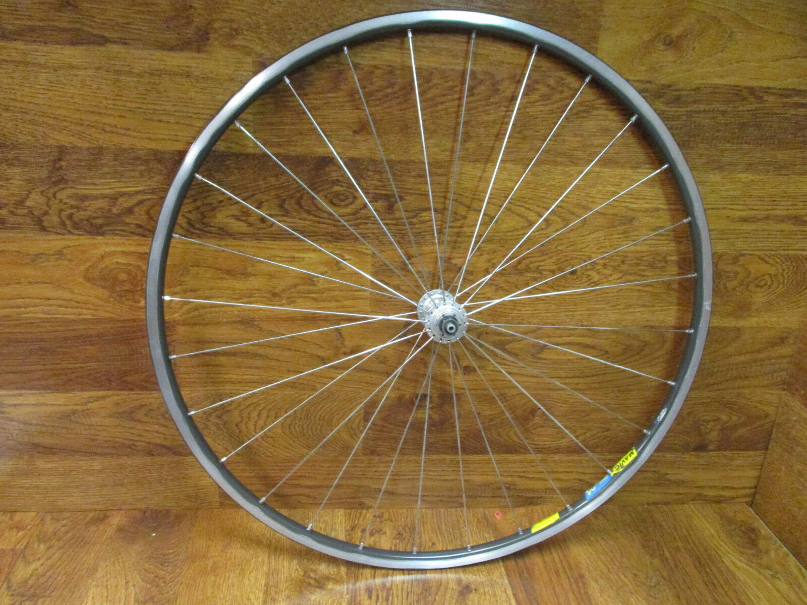 VINTAGE MAVIC OPEN 4 CD 700C CLINCHER FRONT WHEEL 28H 100 x 9mm QR ENGRAVED HUB