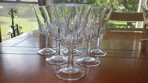 Clear Crystal Wine Glasses in Regency by Cristal D'Arques-Durand France 6 6 oz