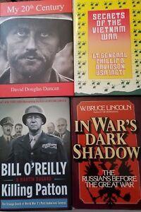 HISTORY-OF-THE-WARS-Books-Military-Army-Marines-Vietnam-Korean-LOT-of-4-WS1B