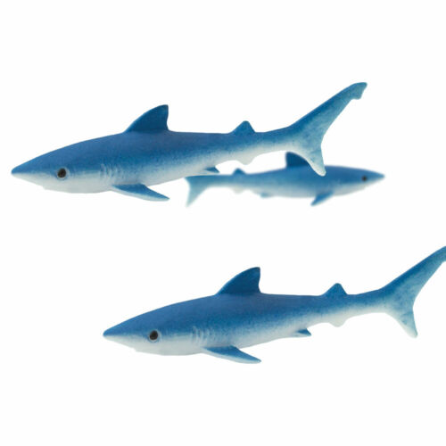 "NEW! #352922 TINY 1/"" LONG SAFARI LTD BLUE SHARKS LOT OF 25 GOOD LUCK MINIS"