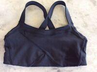 Lululemon Black Running Yoga Sports Bra Size 6 Worn Once