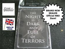 The Night Is Dark And Full Of Terrors Game Of Thrones Glossy Black Plate Frame
