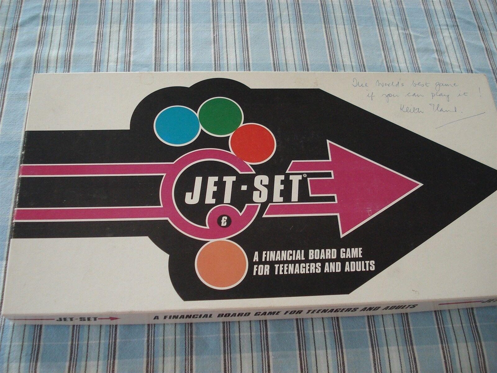 JET SET GAME - FINANCIAL BOARD GAME - 1981 - 100% - RARE GAME - JET-SET GAME