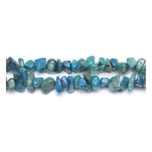 Pces Coupe à la Main Artisanat DIY Chrysocolle Chips Perles 5-8mm Bleu//Vert 240