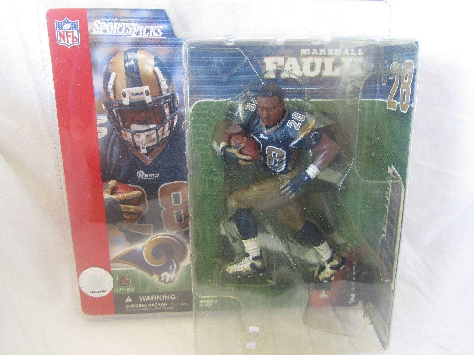 McFarlane NFL Series 2 Marshall Faulk Super Chase Variant - NO HELMET (RARE)