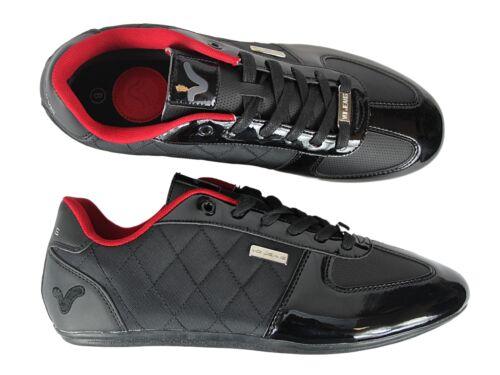 NEUF Garçons Voi Jeans Murano Noir brillant chaussures formateurs toutes tailles 3 à 6