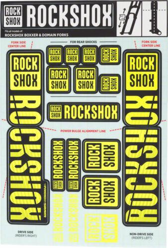 RockShox Decal Kit 35mm Dual Crown Yellow