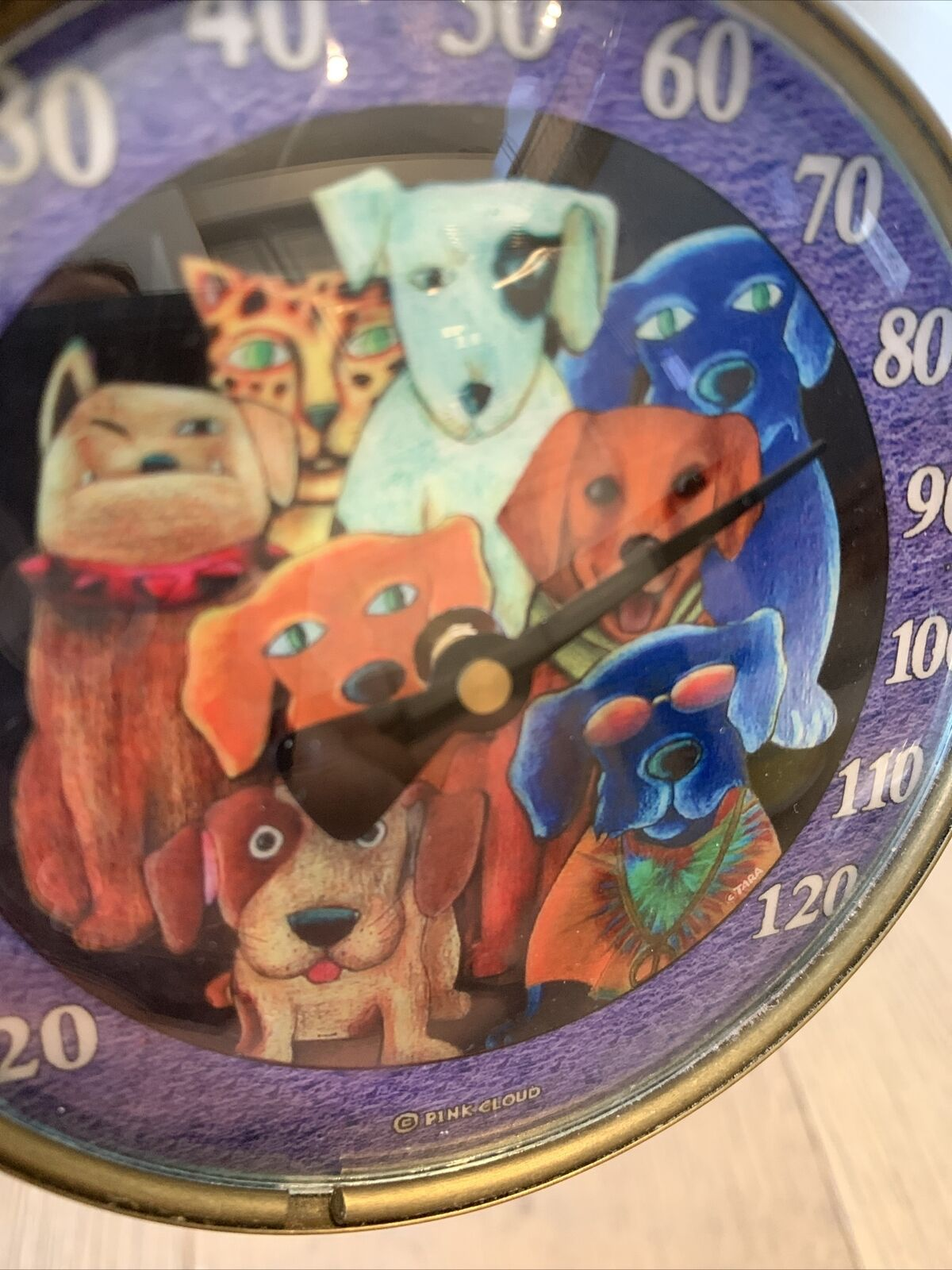 Pink Cloud Dogs Outdoor Temperature Gauge Thermometer TARA Weather Whimsical