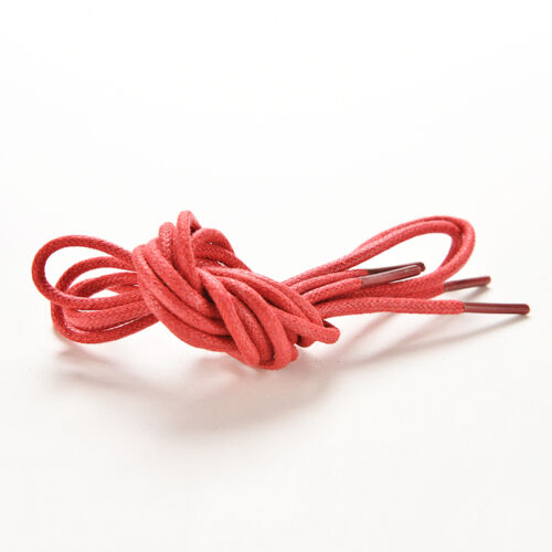 Multi Color Cotton Waxed Round Cord String Dress Shoe Laces Shoelaces 85cmBSCA