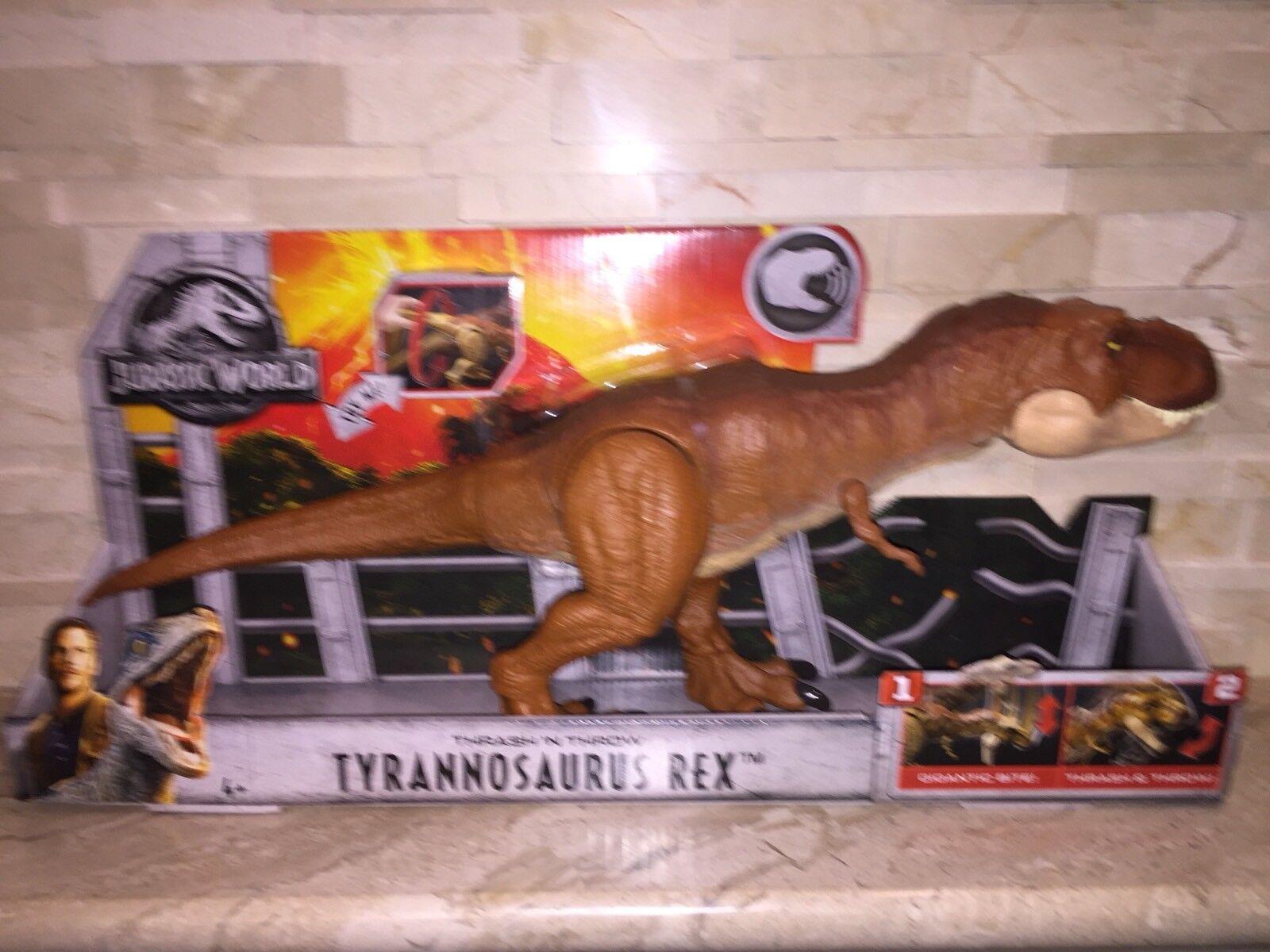 Jurassic World tirar Tiranosaurio Rex Dinosaurio Thrash N figura