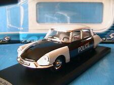 CITROEN DS 19 POLICE PIE 1956 SOLIDO 1/43 FRANCE NOIRE & BLANCHE PARISIENNE
