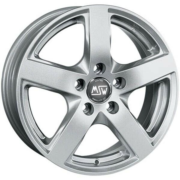 ALLOY WHEEL MSW 55 AUDI TT ROADSTER Staggered 8.5x19 5x112 ET 44 FULL SILVER 70d