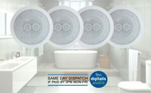 Ceiling-Speakers-6-5-034-Moisture-Resistant-2-Way-Bathroom-Kitchen-Cafe-Surround