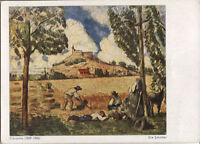 Alte Kunstpostkarte - Cézanne - Die Schnitter