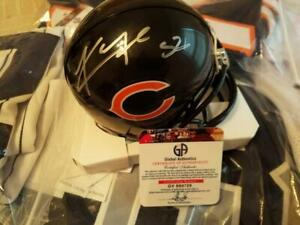 low priced 78297 4c555 Details about khalil mack signed chicago bears mini helmet