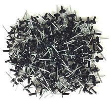 "250 3/16"" Large Head Black Painted Aluminum Pop Rivets #1008"