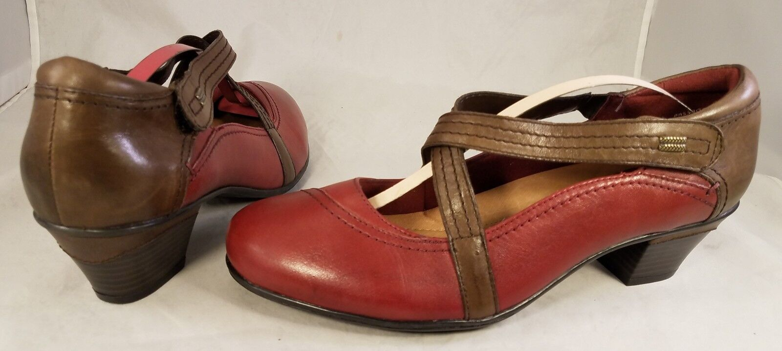 EARTH PASSAGE BORDEAUX WOMAN schuhe MARY MARY MARY JANES rot braun Größe US 10 B EUC e960ee