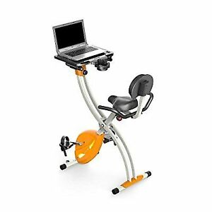 4b67d4a06df Serenelife SLXB2 Home Office Upright Exercise Bike with Laptop Tray ...