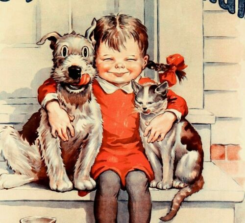 Be Kind To Animals 1932 Vintage Poster Print Retro Style Art Humane Society
