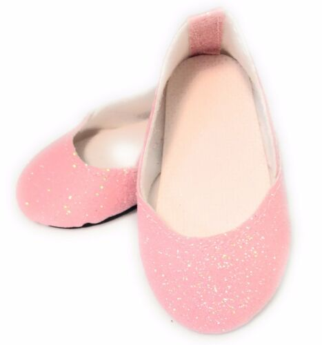 Pink Sparkle Princess Shoes made for 18 American Girl Doll Clothes