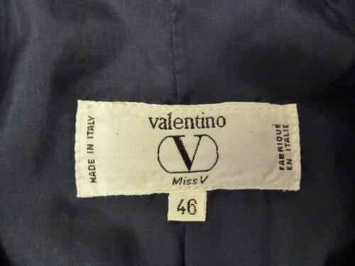 Knapper ~ Italien ~ 46 logo Frøken Jakke l m ~ Navy ~ i Wool vtg Valentino lavet V Designer ~ ORAwqC