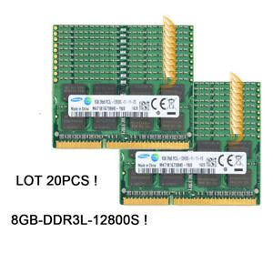 LOT Samsung 20x 8GB 2RX8 PC3L-12800S DDR3 1600MHZ SODIMM RAM Laptop Memory Test&