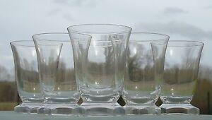 Val Saint Lambert? Vallerysthal? Service de 6 verres en cristal. Haut. 9-7 cm ZZc1KpMG-09115138-452559619